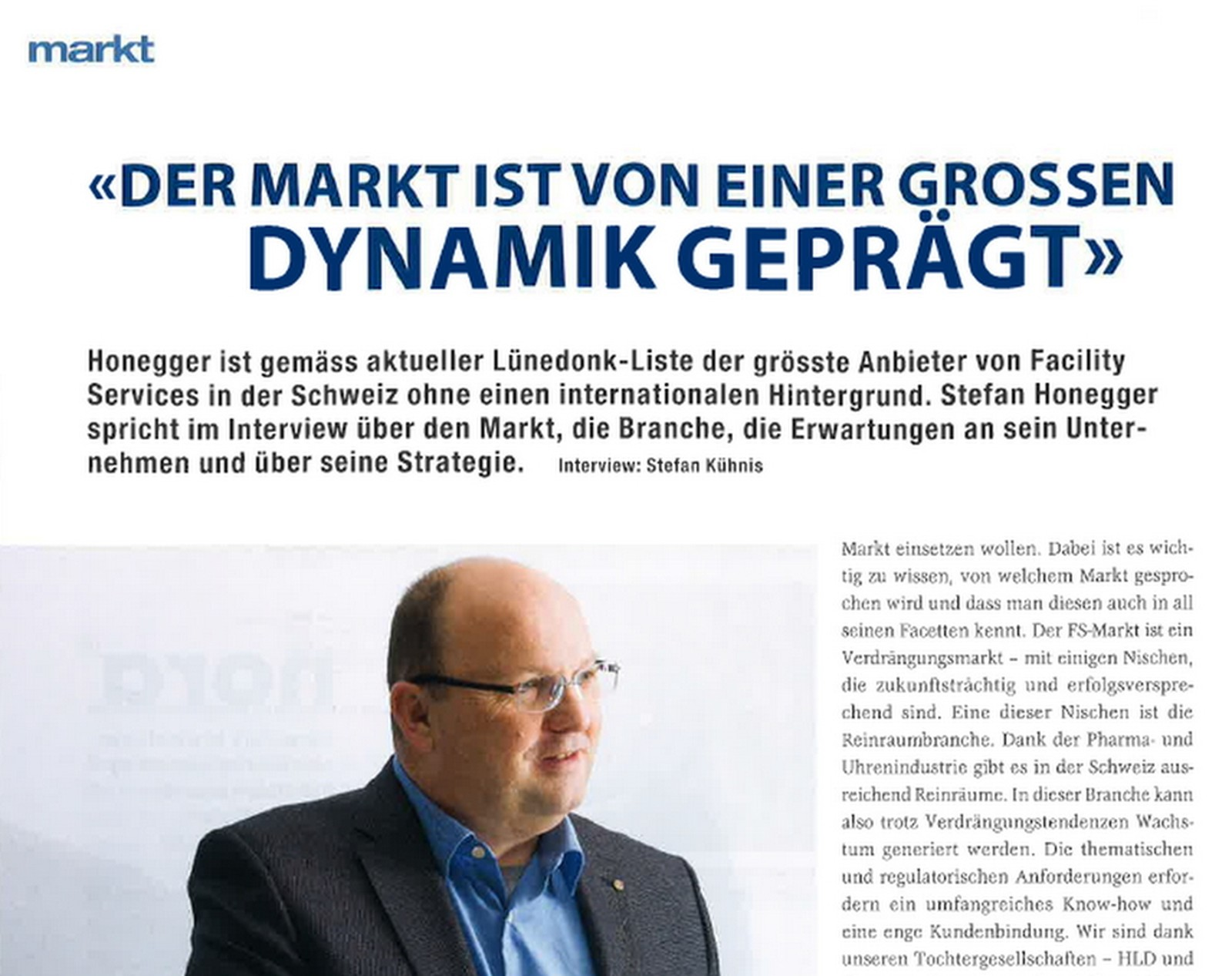 Interview mit Stefan Honegger